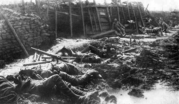 Фото. Иприт в перовй мировой войне