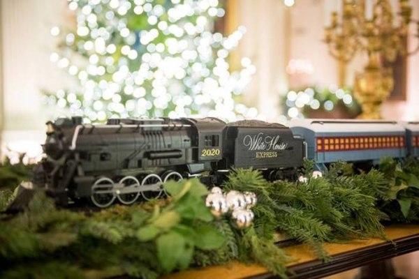 Украшения Белого дома на Рождество