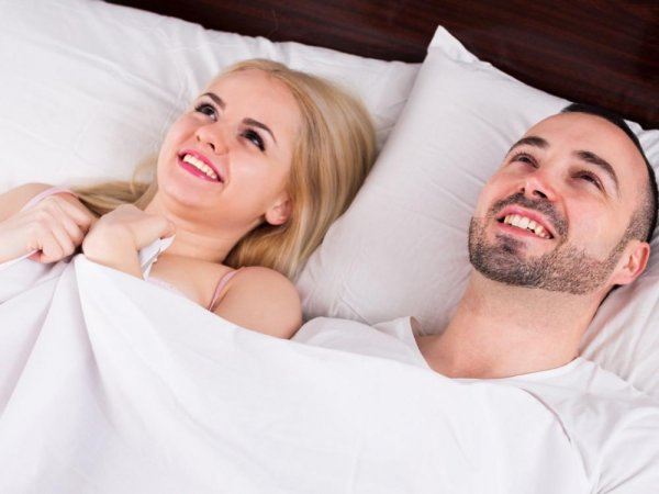 радостная пара после секса