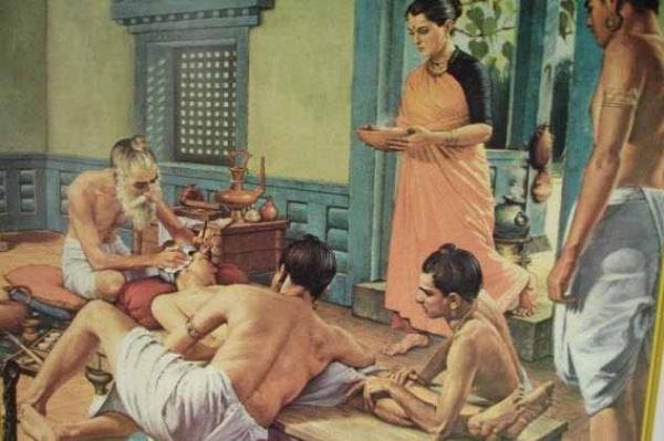 Фото. Проведение хирургической хирургии в древности
