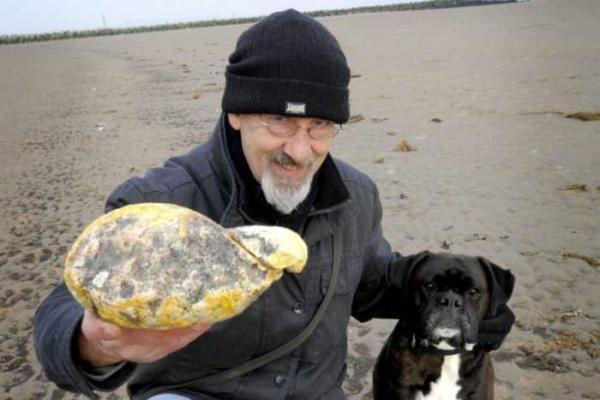 Фото. Амбра найденная на берегу