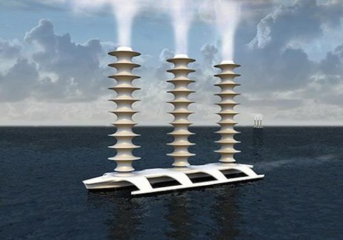 Фото. Концепция распыления морской воды