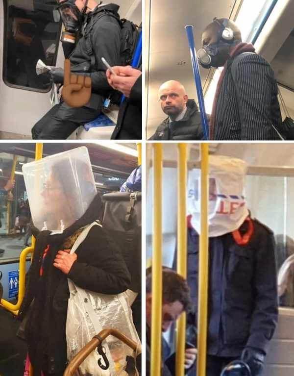 защита от коронавируса среди жителей Лондона