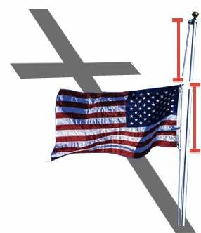 Фото. Приспукание на ширину флага