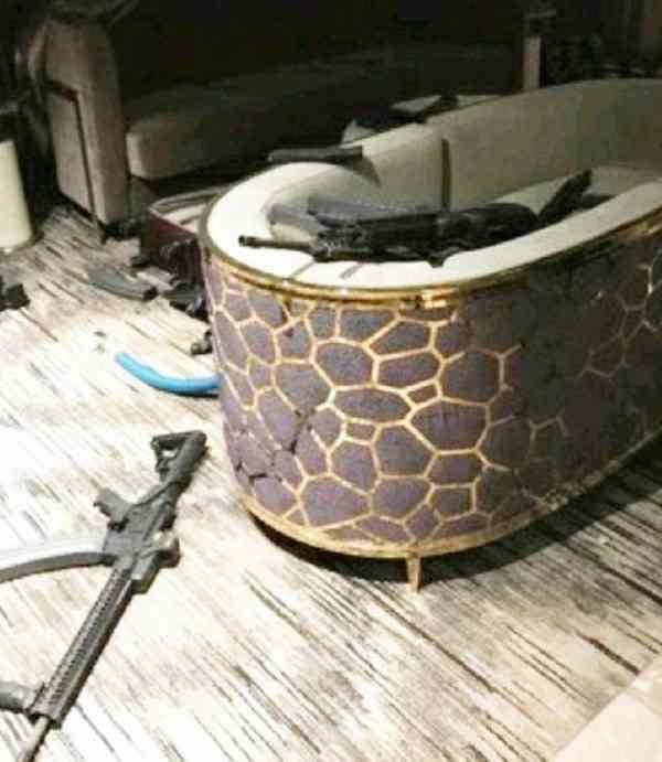 Фото. Оружие в номере Лас-Вегаса
