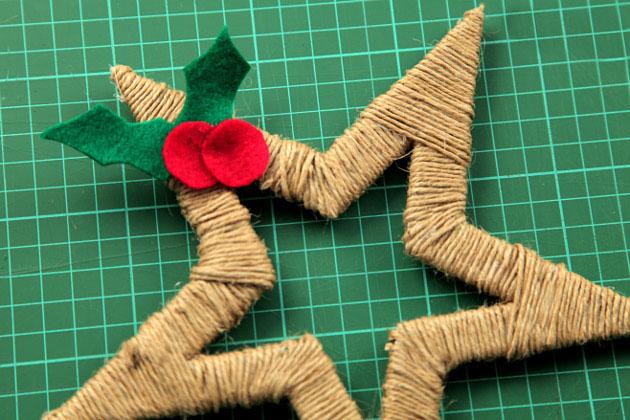 Новогодняя игрушка своими руками звездочка
