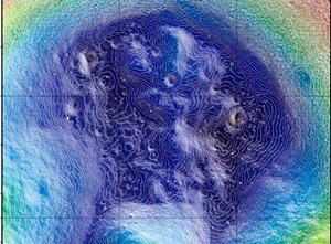 Фото. Кратер Шелктон на Луне
