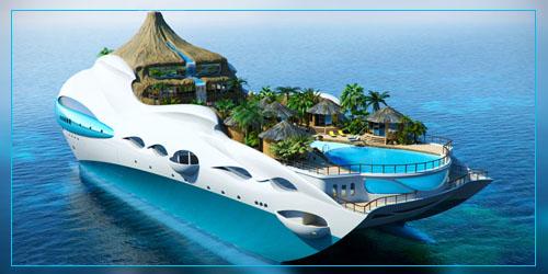 Фото. Яхта - тропический остров