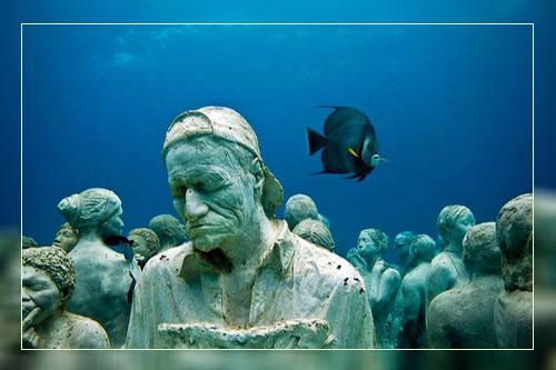 Фото. Подводные скульптуры