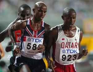 Фото. Африканские спортсмены во время забега