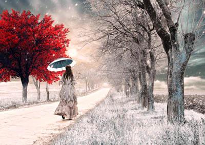 Фото. Девушка на дороге