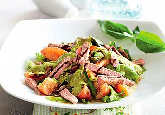 Фото. Зеленый салат с имбирной заправкой