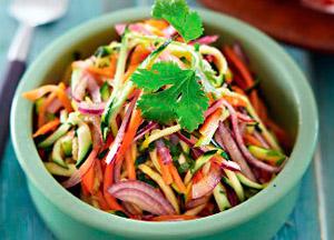 Фото. Приготовленный салат из цукини