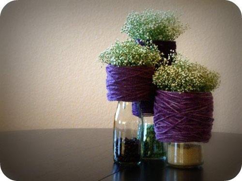 Фото. Рукотворные композиции из цветов и зерна