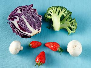 Фото. Набор фруктов и овощей