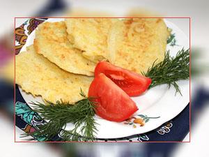 Фото. Приготовленные картофельные оладьи