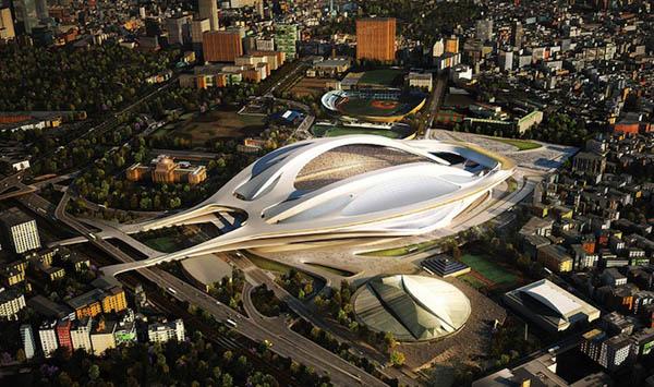 Фото. Заха Хадидский спортивный стадион в Японии