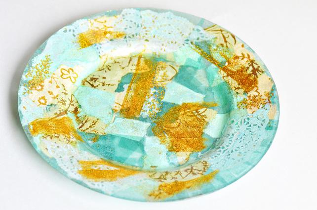 Фото. Декоративная тарелка