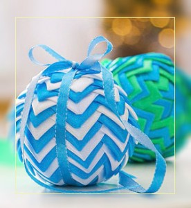 Фото. Декорированный шар своими руками