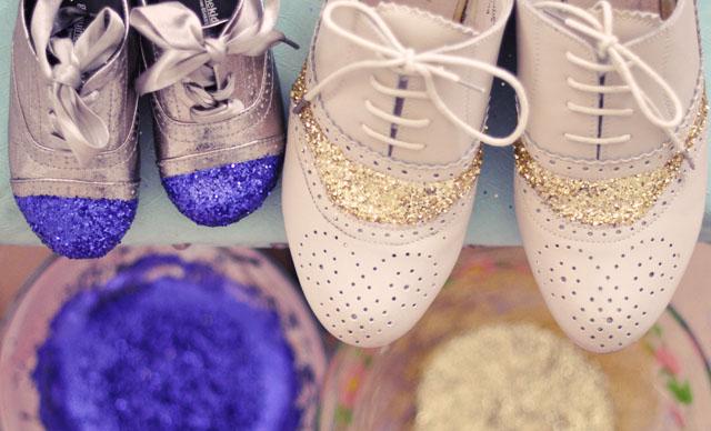 Фото. Блесточки на обуви