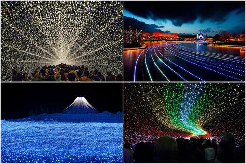 Фото. Зимний фестиваль света в в Японии