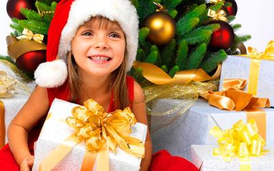 Фото. Детский новогодний подарок