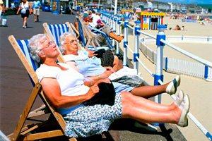 Фото. Солнечные ванные и инсульты