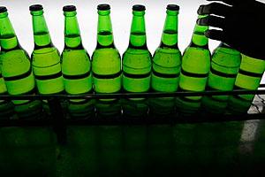 Фото. Алкоголь в холодильнике