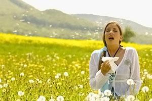 Фото. Аллергия от пуха