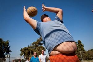 Фото. Немного толстый спортсмен