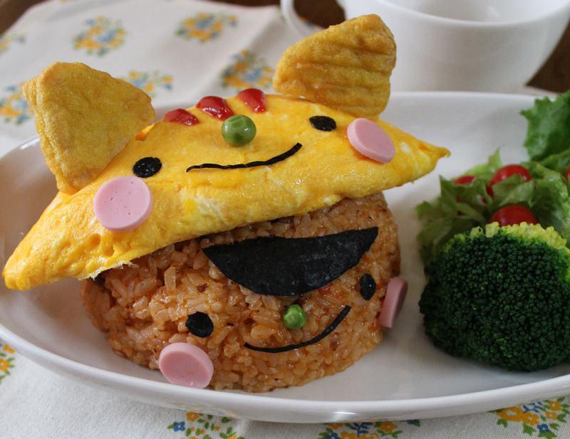 Фото. Красивый колобок из еды