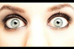 Испугались и сделали огромные глаза