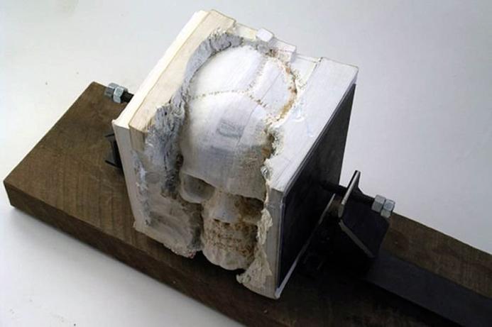 Выпиливание черепа в книге