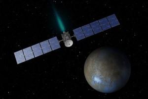 приближение к спутнику Юпитера