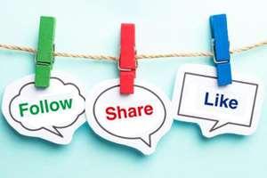 популярность в социальных сетях