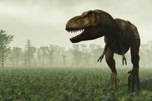 идет динозавр