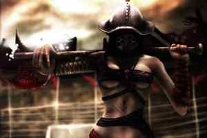 девушка гладиатор