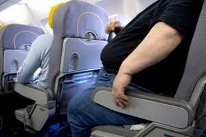 толстый в самолете