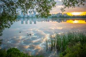 утренная река