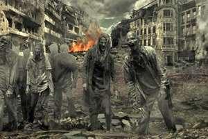 зомби идут по городу