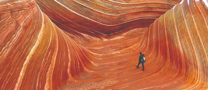 каньон с каменными волнами