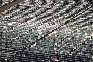 нагромождение из солнечных панелей