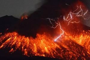 модель вулкана