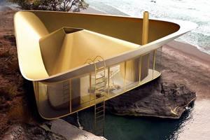 крыша в виде бассейна