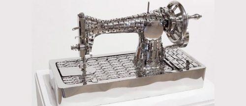 швейная машина из бритвенных лезвий