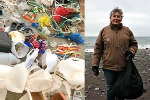 уборка берега от мусора