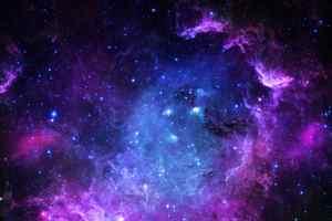 пурпурный свет галактики