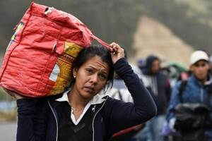 люди бегут из Венесуэлы