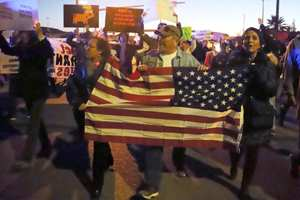 протест против президента Трампа