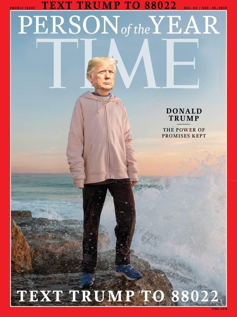 Дональд Трамп на журнале
